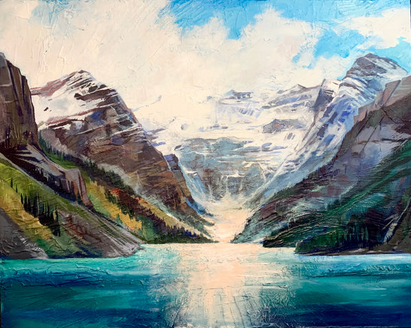 "Lake Louise Lights 48"" x 60"""