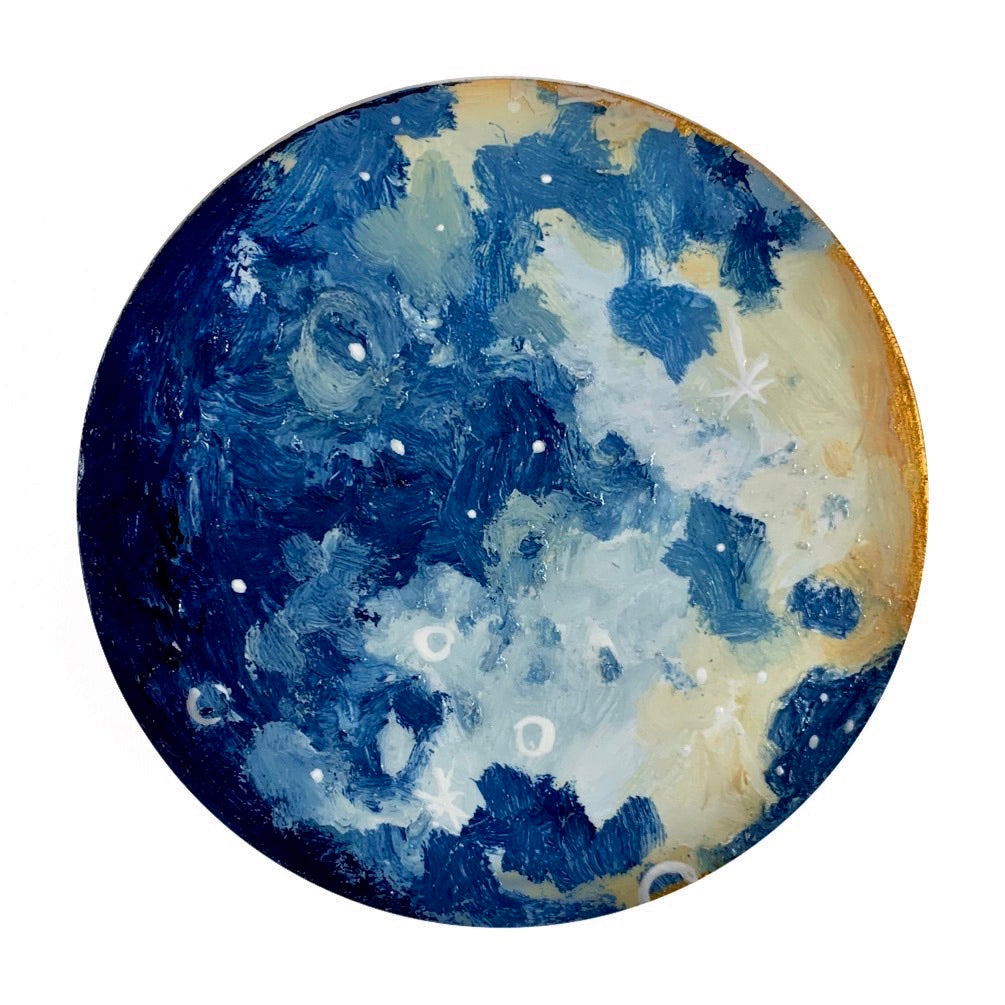 Lunar Collection - Calm and Blue Mini Mini Moon 4""