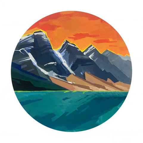 Moraine Lake in Pop Colors 8""