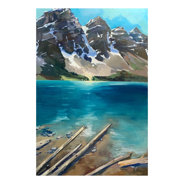 "Moraine Lake driftwood 24"" x 36"""