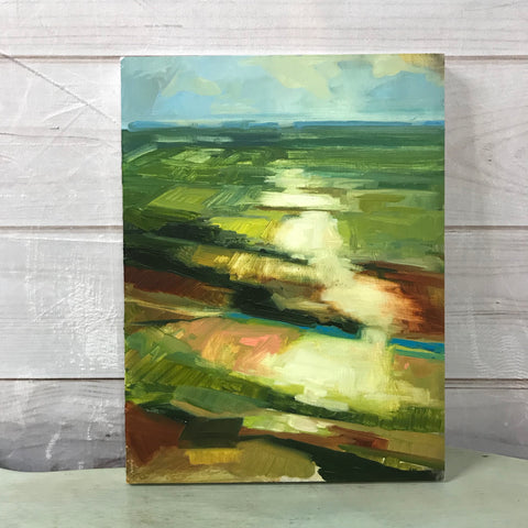 "Original Oil Painting - ""Prairie Depth"" 12"" x 16"""