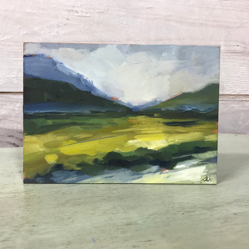 "Original Oil Painting - ""Canmore"" 5"" x 7"""