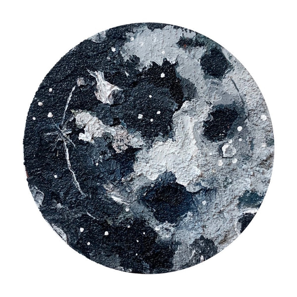 The lunar Collection - black and teal moon 6""