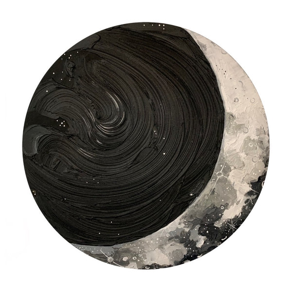 2020 Lunar Collection - Black and White Crescent Moon 2