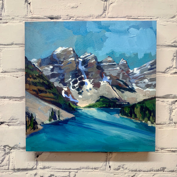 "Moraine Lake Light 12"" x 12"""