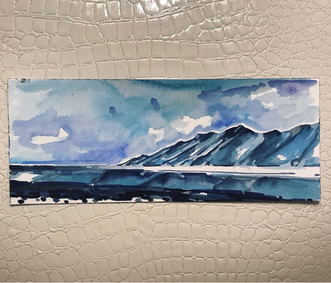 Original Watercolor - Icy Landscape