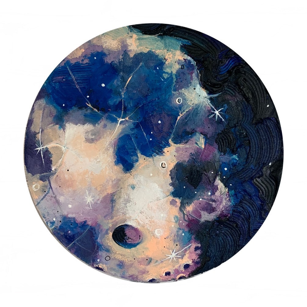 2020 Lunar Collection - Purple Shades Gibbous Moon 12""