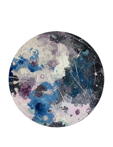 Lunar Collection: Shades of blue and pink moon 14""