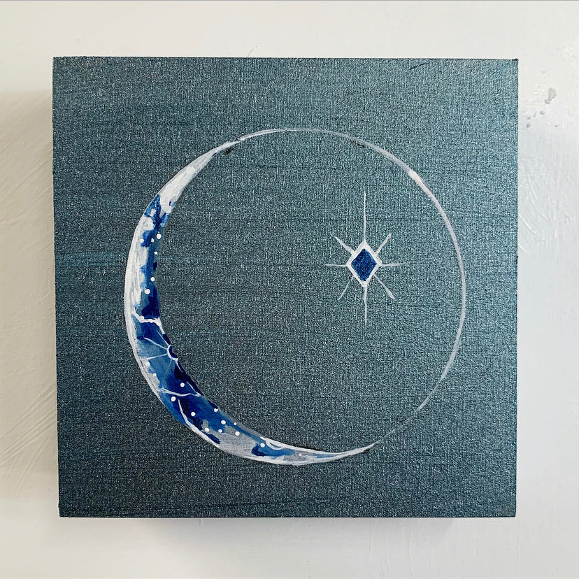 Lunar Collection - Stainless Steel Crescent Moon