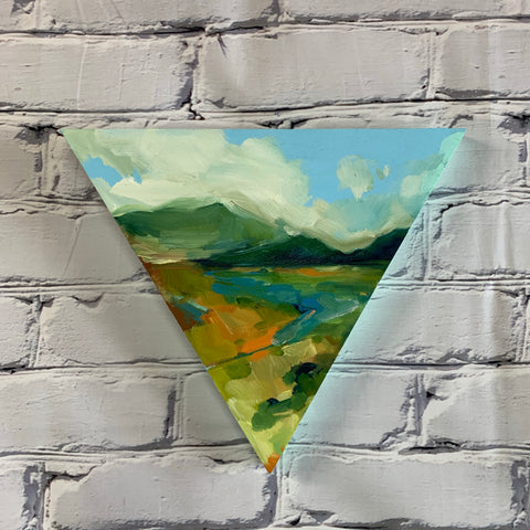 "Santa Fe Collection - Sage Mountains 12"" Triangle"