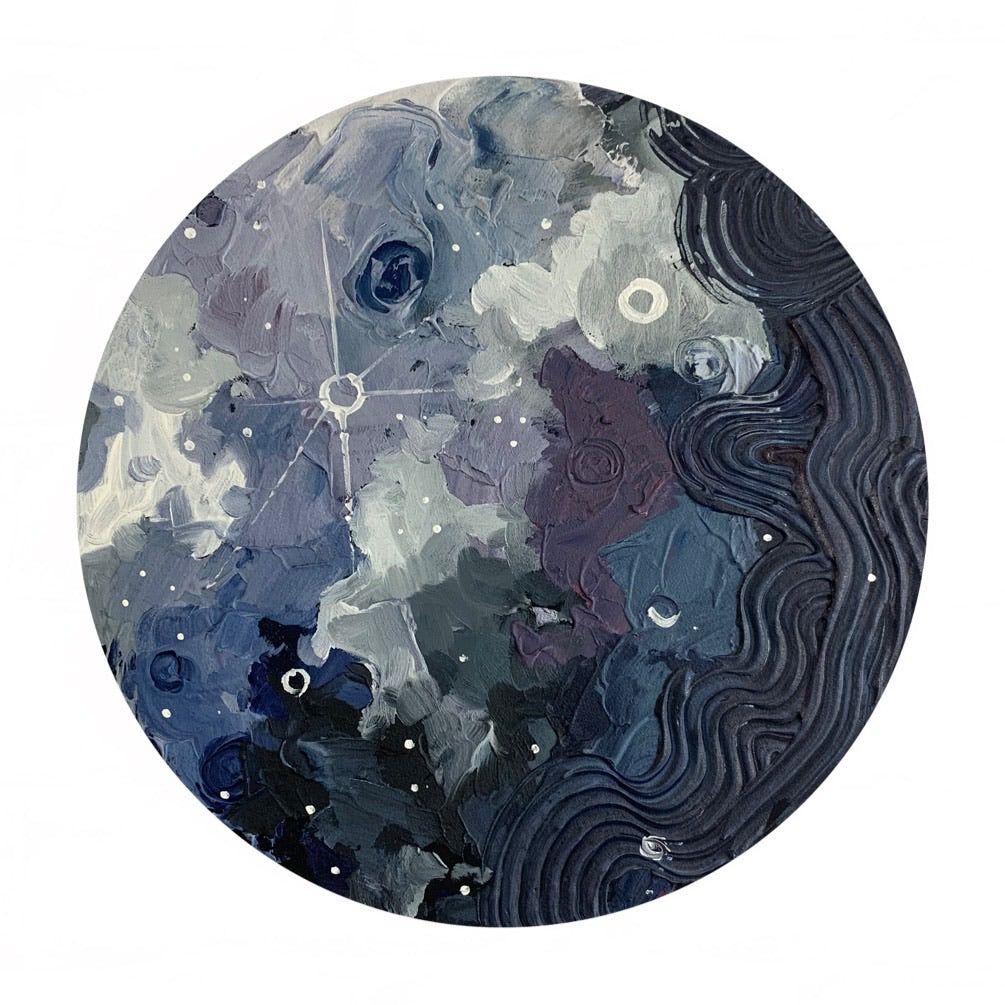 Lunar Collection - Violet Hues Moon 12""