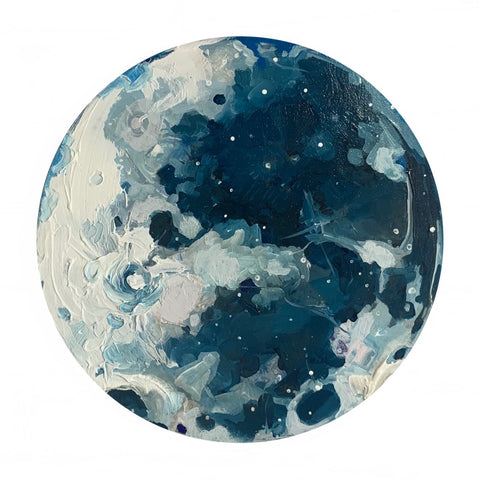 Lunar Collection - Full Moon in Phthalo Blue 12""