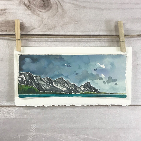 Original Watercolor - Canmore, Alberta