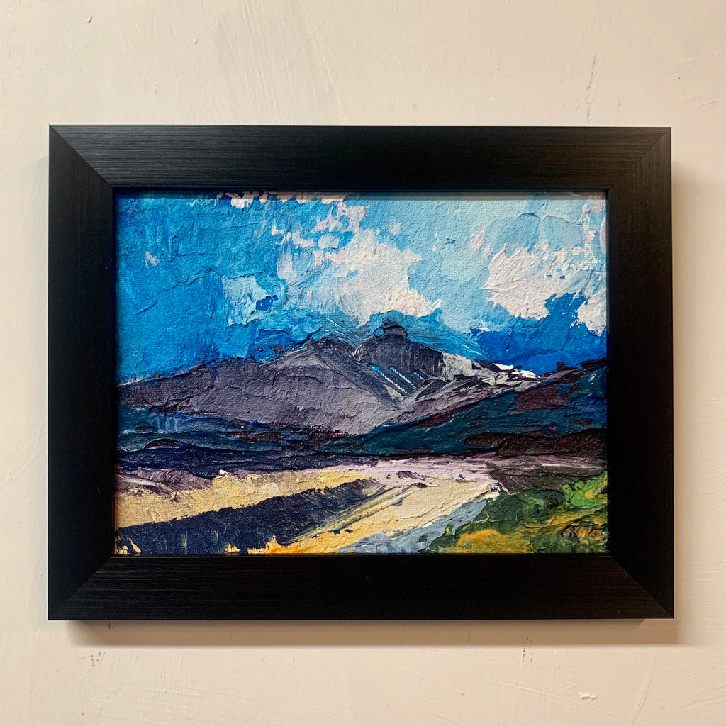 "Mountain Landscape 9.5"" x 7.5"" framed"