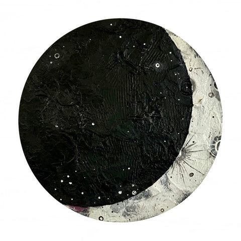2020 Lunar Collection - Textured Crescent Moon 12""