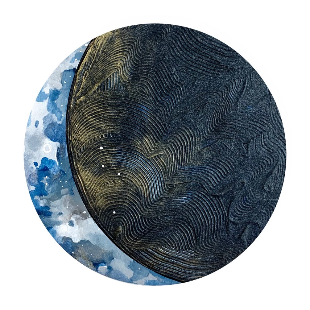 Lunar Collection - Calm and Blue 12""