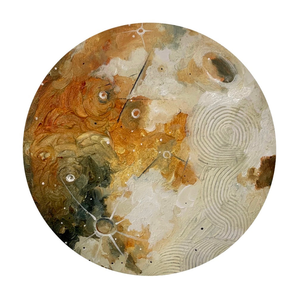 Lunar Collection - Golden Shimmer moon 12""