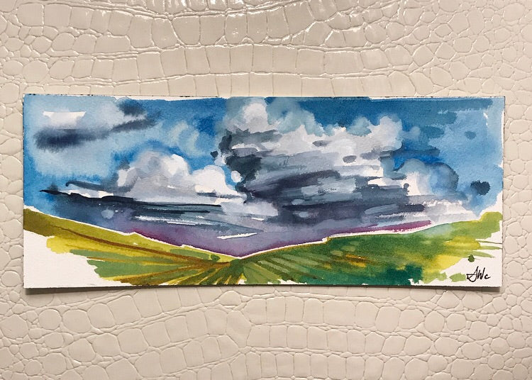 Original Watercolor - Cloudscape