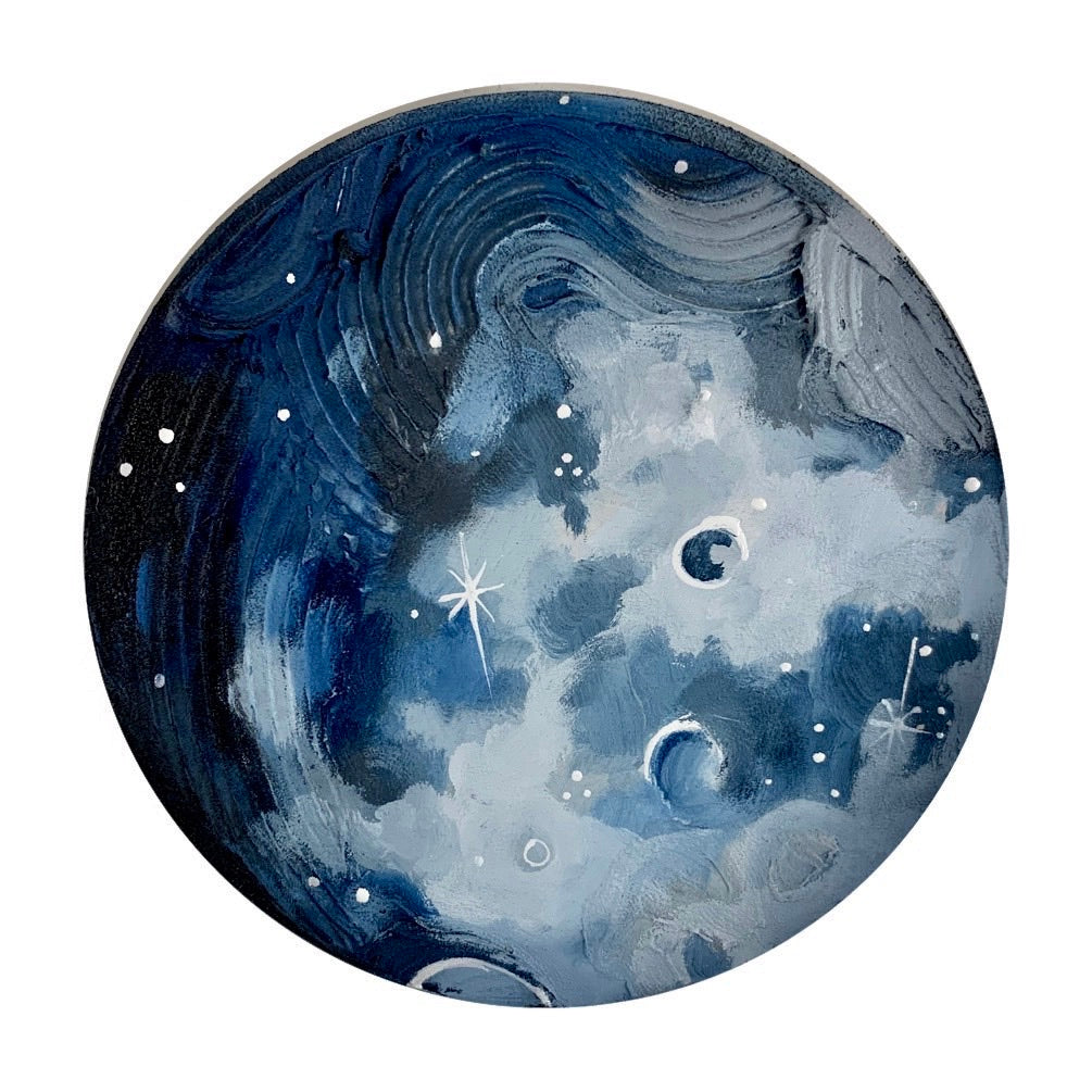 Lunar Collection - Calm and Blue Mini Moon 6""