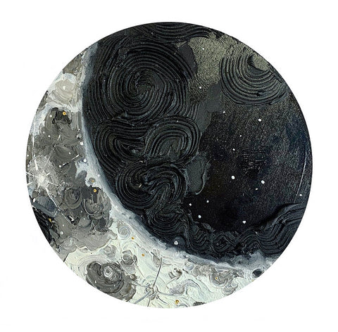 Lunar Collection - Black Crescent Moon 12""