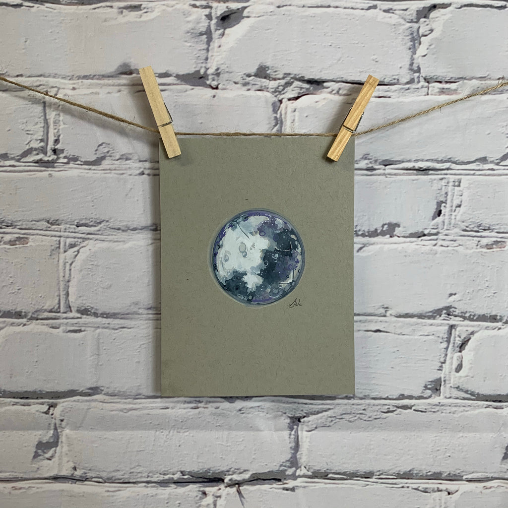 "The Lunar Collection - Original Watercolor 6"" x 8"""