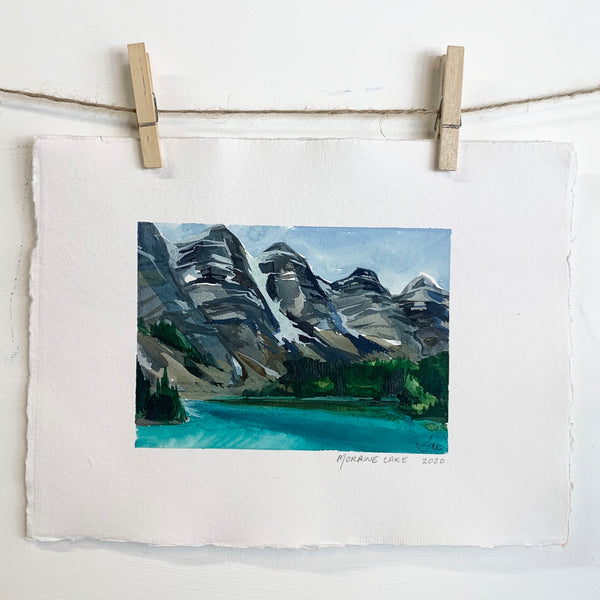 Moraine Lake - Watercolor on handmade paper