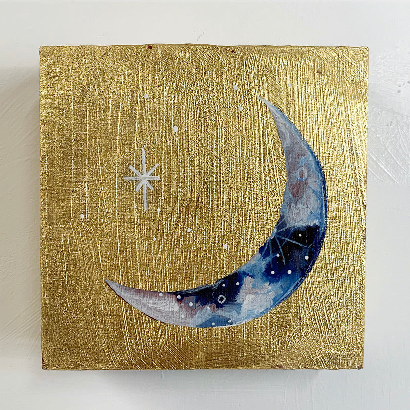Lunar Collection - Gold Leaf Crescent Moon