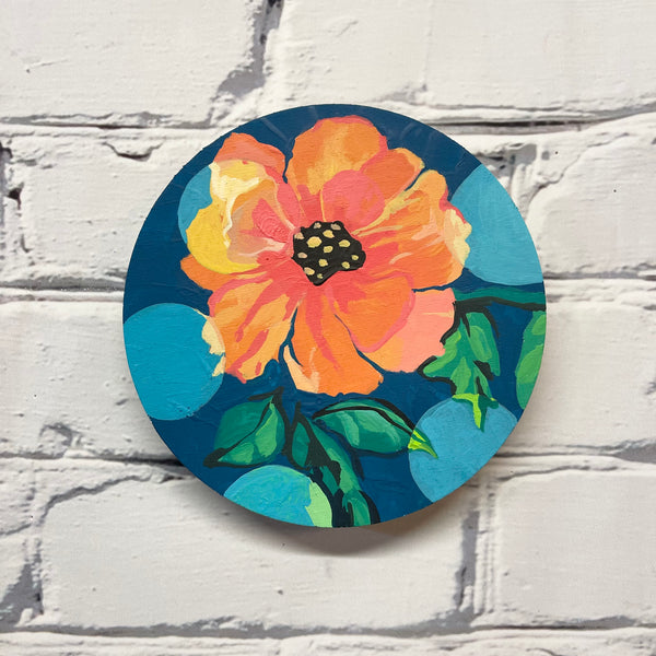 "Floral pop art 6"" diameter"