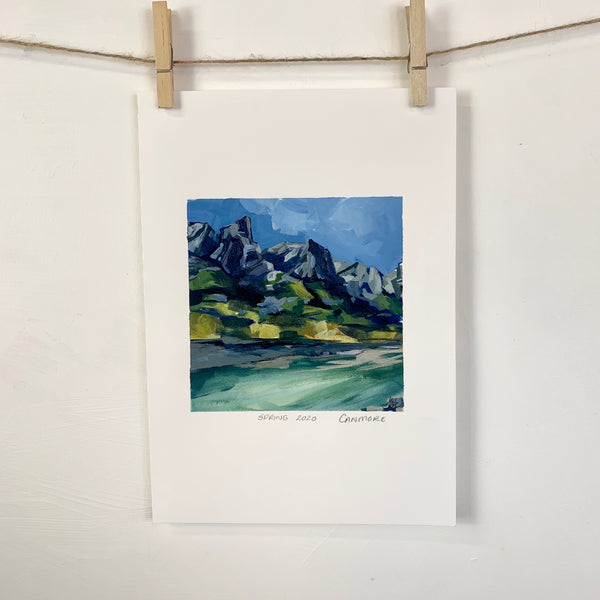Acrylic Sketch on Paper -  Canmore View