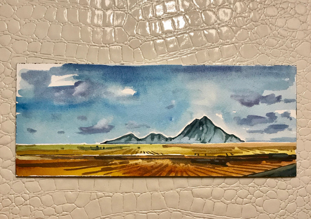Original Watercolor inspired by the foothills of Alberta