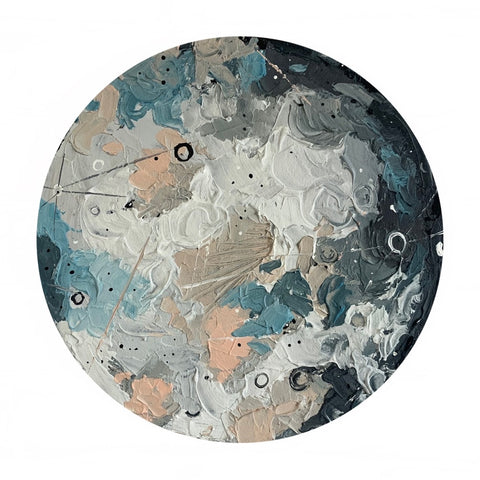 Lunar Collection - Gibbous Moon in Peach 12""
