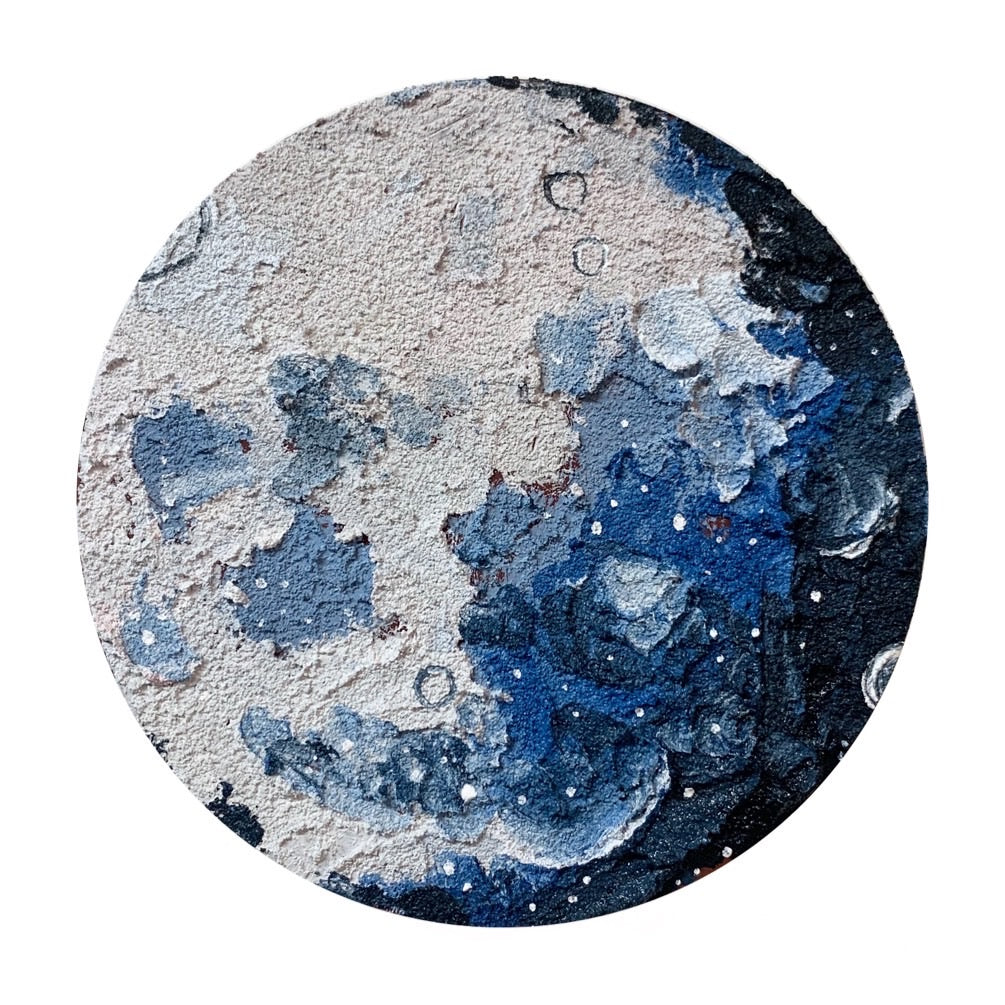 The lunar Collection - Blue and White moon 6""