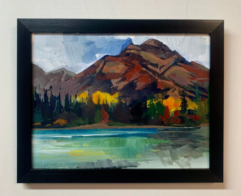"Pyramid Mountain Plein Air Study 11.5"" x 9"" framed"