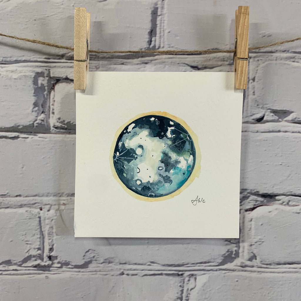 "Lunar Collection - Original Watercolor 6"" x 6"""