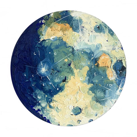 Lunar Collection - Soft Gibbous Moon 12""