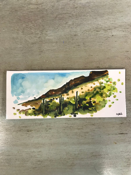 Original Watercolor - Arizona Landscape