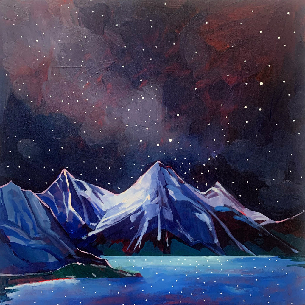 "Medicine Lake and the Stars 12"" x 12"""