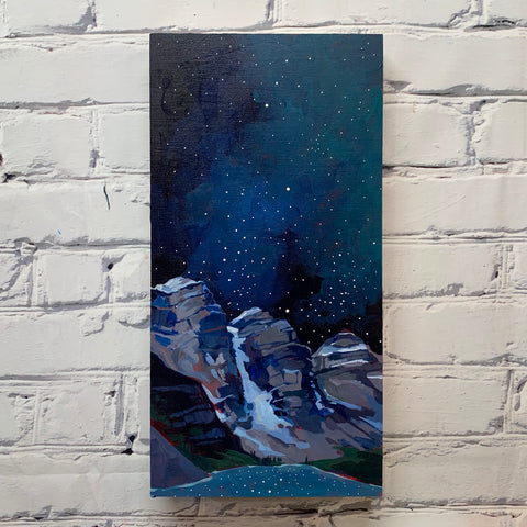 "Moraine Lake and the Stars 8"" x 16"""