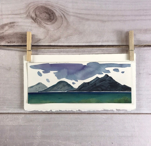 Original watercolor on paper - sea to sky highway