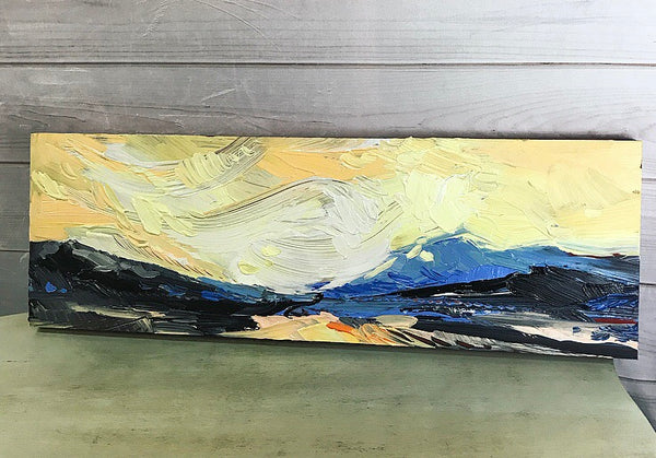 """Foothills"" - Original acrylic painting 12"" x 36"""