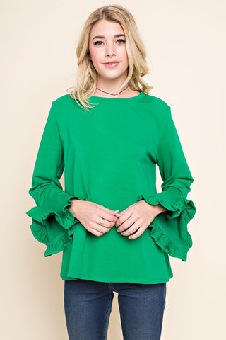 Kelly Green Ruffle