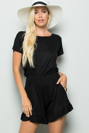 Back in Black Summer Romper