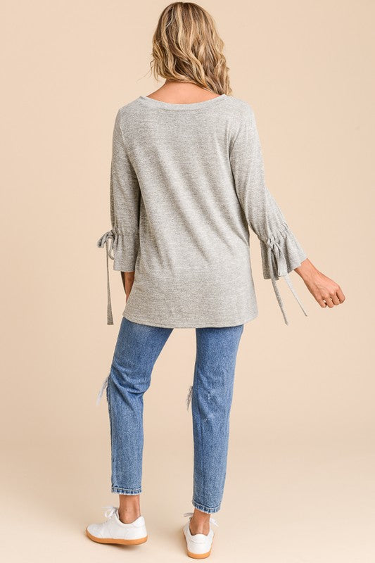 Side Slit Knot Top