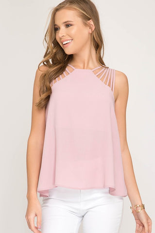 Rose Multi-Strap Top