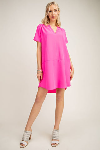 Neon Fuchsia Dress