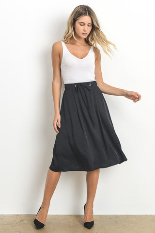 Black Flowy Skirt