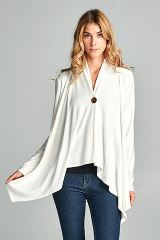 White Cardigan with Button