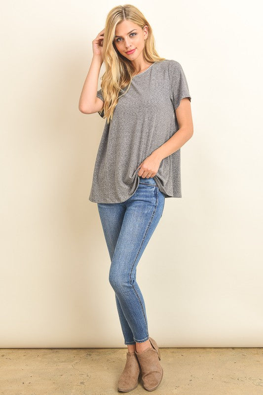 Pinstripe Peek A Boo Top