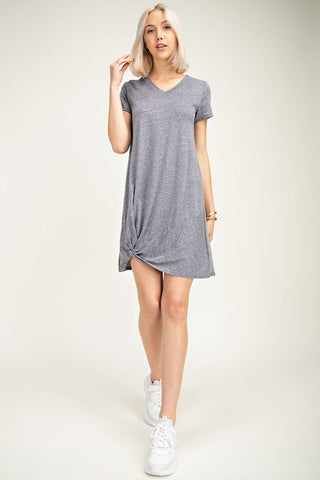 Comfy Side-Knot Tshirt Dress