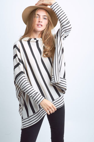 Stripes for Days Poncho
